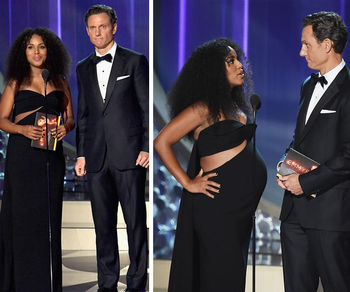 *Scandal's* Kerry Washington and Tony Goldwyn took to the stage.