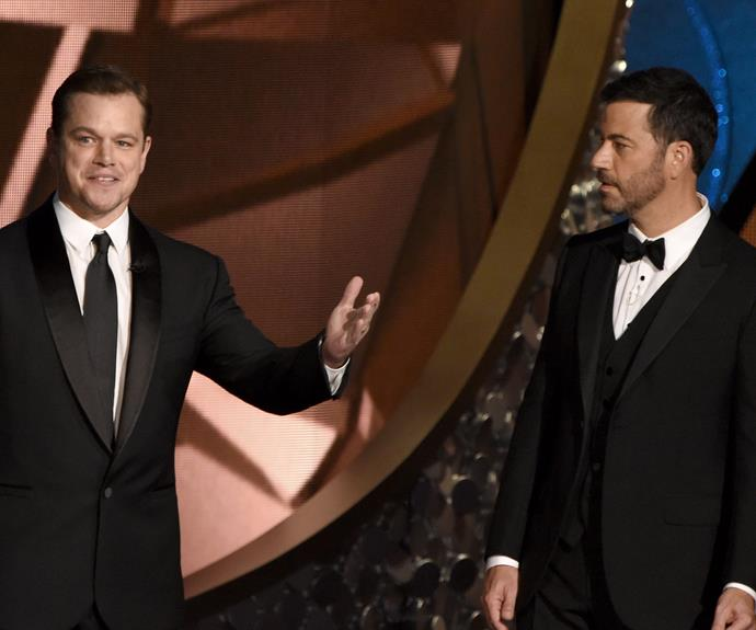 Sworn enemies Matt Damon and Jimmy Kimmel don't make amends...