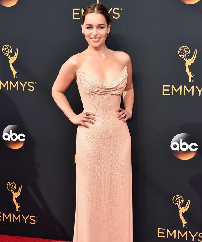 Emilia looked stunning on the red carpet.