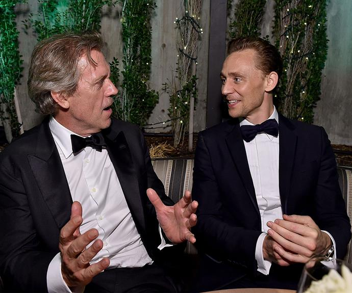 Who needs girls when you have your work bestie, Hugh Laurie?! **Catch up on all the Emmy's goss in the next slide. Gallery continues after the video**