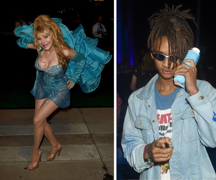 Comedian and flamenco guitarist Charo put her best foot forward while Will Smith's son Jaden was also in attendance.