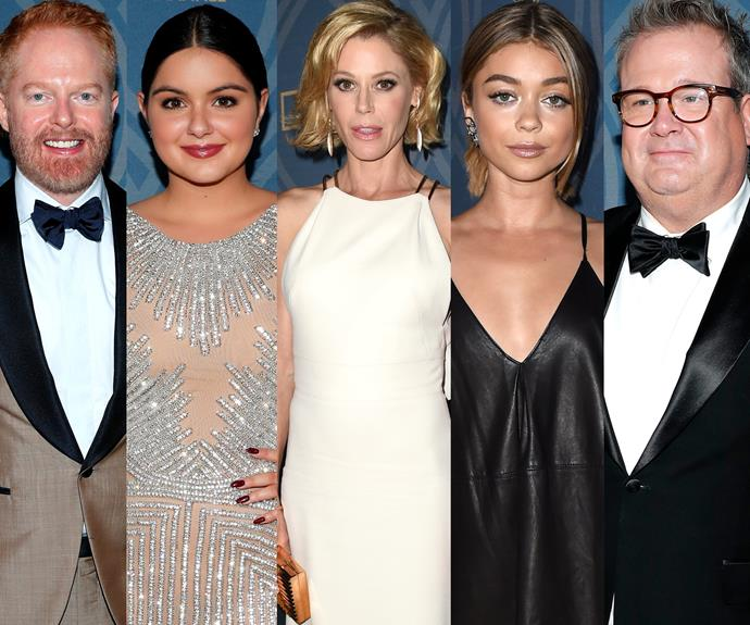 In fact most of the *Modern Family* gang continued partying the night away...