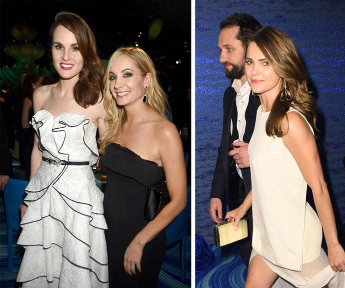 *Downton Abbey's* Michelle Dockery and Joanne Froggatt, plus *The Americans* Keri Russell and her co-star and real life partner Matthew Rhys.