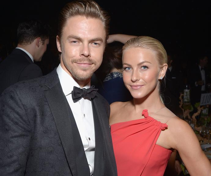 Siblings Derek and Julianne Hough.