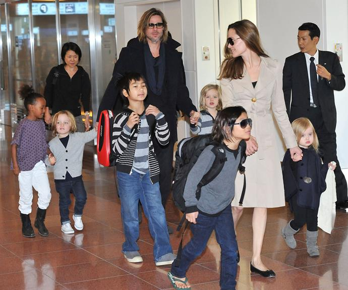 Angelina only wants Brad to have visitation rights.