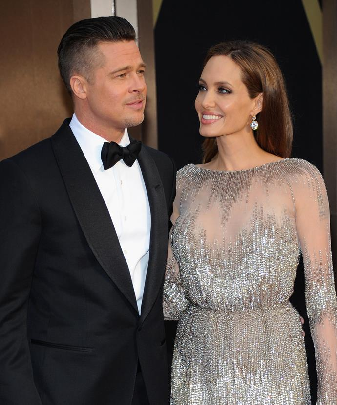 Brad and Angelina met on the set of *Mr. and Mrs. Smith* when Brad was married to Jennifer Aniston.