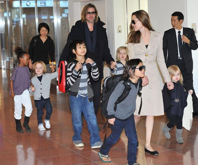 The Jolie-Pitt clan.