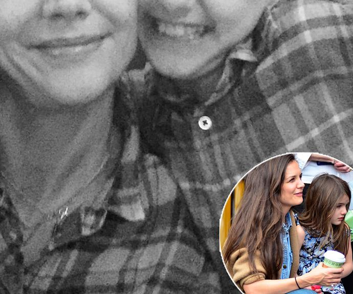 "Like mama, like daughter! Katie Holmes couldn't be more excited to be twinning with her darling daughter. Sharing a selfie with herself and Suri, both donning matching plaid shirts, the 37-year-old penned, ""Happy Monday #plaid #smile #gratitude #joy."""