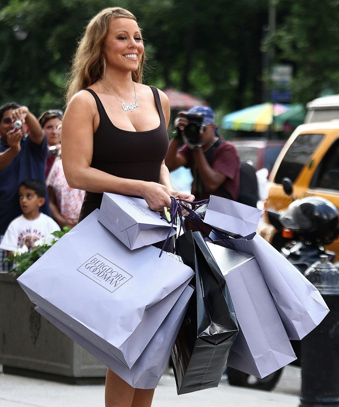 The starlet likes to shop!