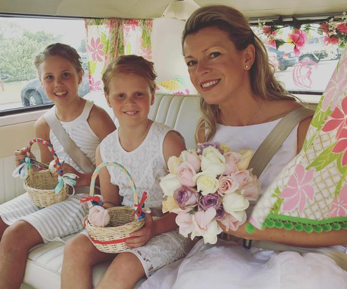 "Taking a moment to share the special day with her followers, Lisa shared this sweet snap on Instagram. ""Special day for my little Kombi today ... She had the absolute pleasure of driving these gorgeous girls to the wedding ceremony. Love is in the air! Congratulations Mr and Mrs Brooks,"" she wrote."