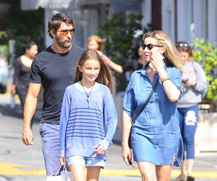 But Jonathan LaPaglia has finally been reunited with his wife Ursula, 41, and daughter Tilly, 12, in LA.