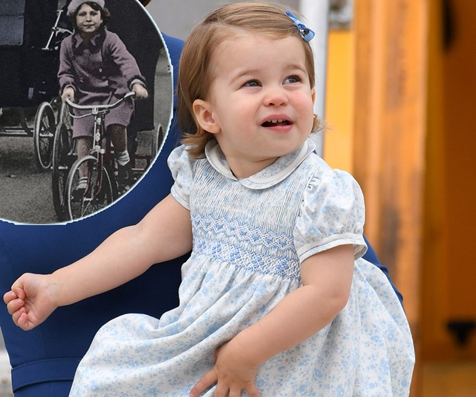 And it's not just Catherine's features she has! Fans took to social media to share how much they were reminded of Charlotte's great-grandmother, Queen Elizabeth, from when she was a young Princess.