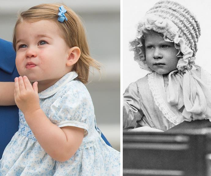 "One person admitted to *Woman's Day*, ""Is it just me or does this baby girl look a lot like the Queen?"" Within minutes, people rushed to agree, with another quipping, ""1st thing that crossed my mind when I saw this picture!"""