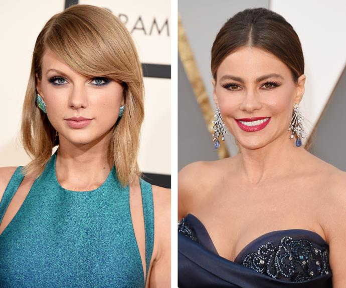 Taylor Swift loves to shake it up with navy kohl around the eyes, while Sofia Vergara is all about brown.