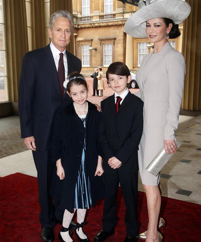 The Douglas family at Buckingham Palace back in 2011.