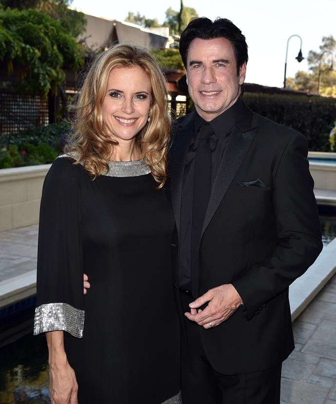The parents were heartbroken after Jett's shock death, but admit Scientology helped them through the pain. Here they are pictured at the Church of Scientology Celebrity Centre's 45th Anniversary Gala on August 9, 2014.