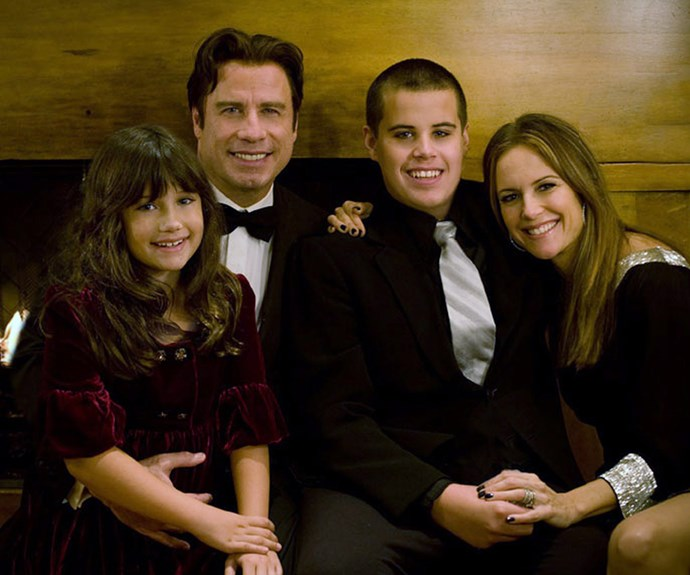 John and Kelly with their kids Ella and Jett in happier times.