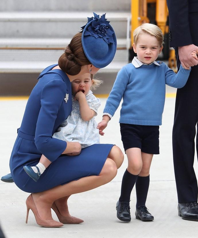 We love seeing the Duchess in mum mode!