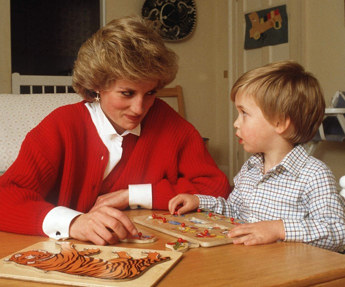 A royal rule breaker: Diana was a very maternal parent and insisted her children join her on official tours overseas.