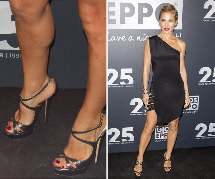Back in her native Spain earlier this year, Elsa Pataky wore a raspberry pink polish on her toes. It looked beautiful on her sun-kissed skin.