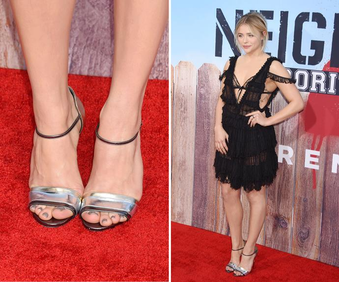 The mink shade that Chloë Moretz wore to the LA premiere of *Neighbors 2: Sorority Rising* is ultra versatile and can easily be dressed up or down.