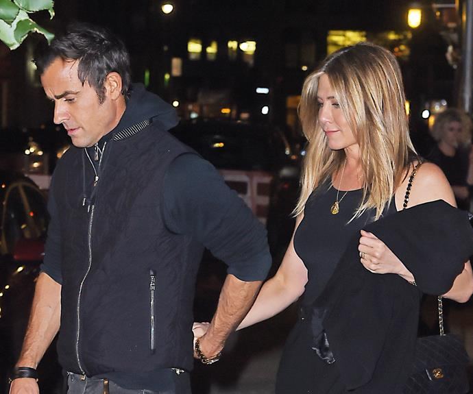 Following the news of Brangelina's split, Jen and Justin stepped out looking happier than ever.