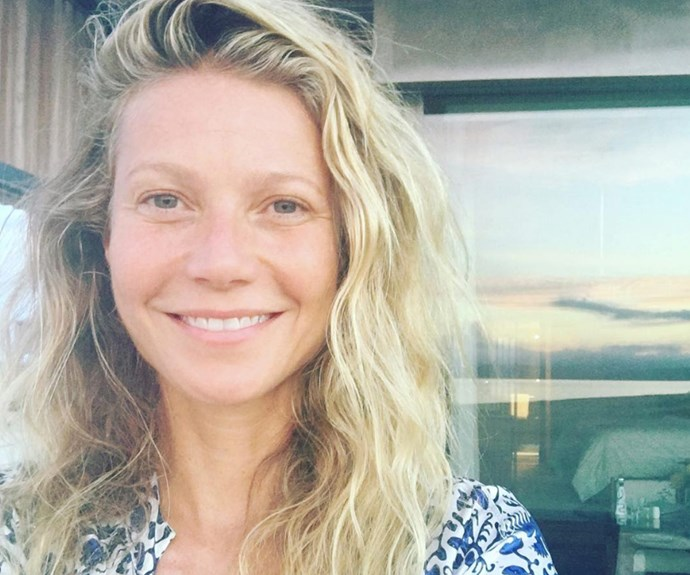 "In celebration of her birthday, Gwyneth Paltrow showed off her glowy complexion with a message of positivity for her fans. ""#nomakeup for my 44th birthday, embracing my past and future. Thank you for the instalove,"" she wrote."