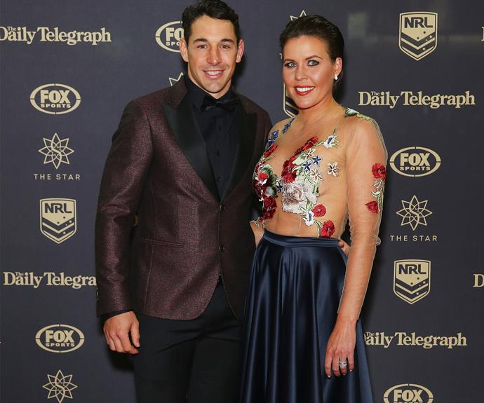 Billy Slater strikes a pose with his Mrs, Nicole.