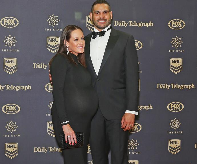 Greg Inglis and his beautiful pregnant wife, Sally Robinson.