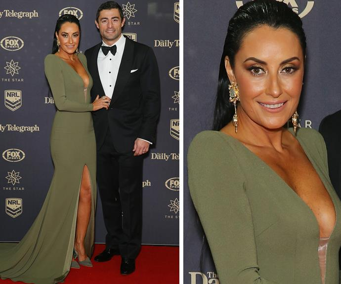 Shoe queen Terry Biviano showed off her best side with her main squeeze, hubby Anthony Minichiello, right by her side.