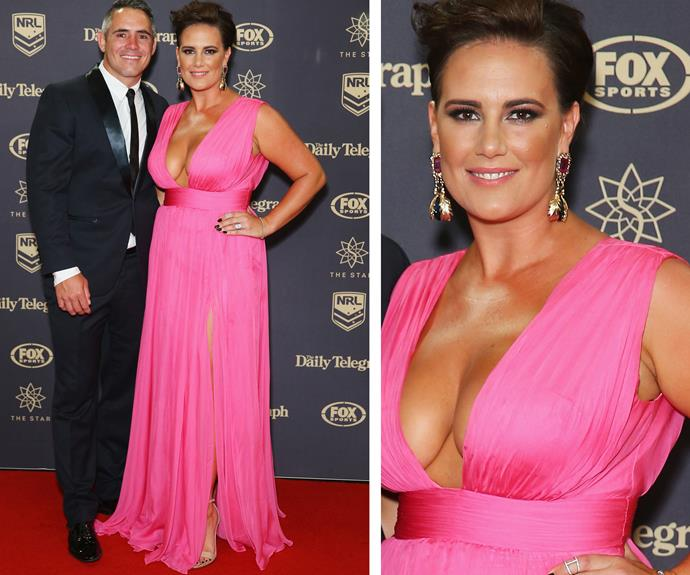 Footy legend Corey Parker was joined by pretty in pink wife, Margaux.
