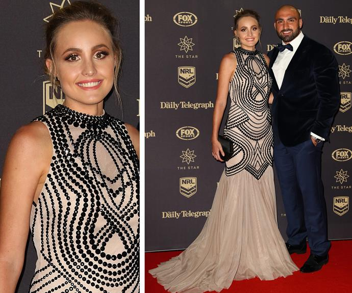 Tim Mannah of the Parramatta Eels and wife Stephanie.