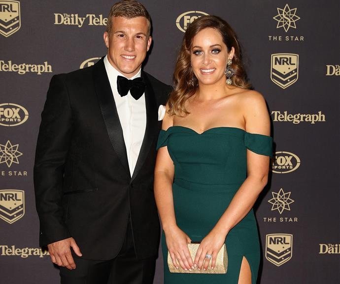 Trent Hodkinson of the Newcastle Knights and Chantelle Traficante.
