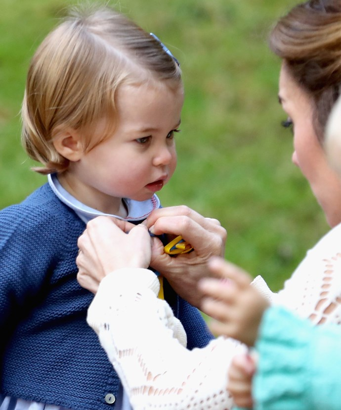 The mini-royal was the life of the party!