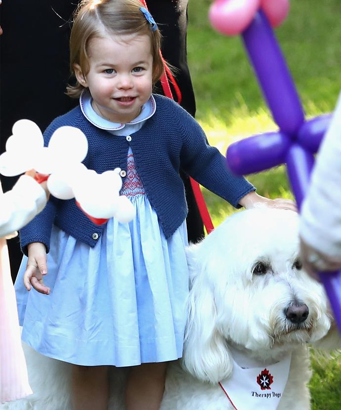 Who could forget when the cutie befriended a dog called Moose at a children's party at Government House in Victoria, Canada.