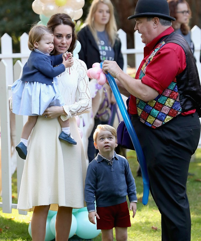 When Prince George spotted Charlotte getting a balloon, he raced over and asked for one too!