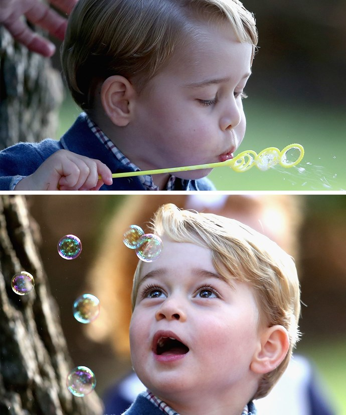 George the bubble boy.
