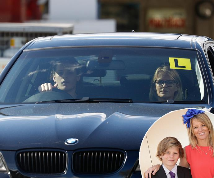 Simone Callahan, 45, took her son Jackson, 17, for a driving lesson around Melbourne recently.