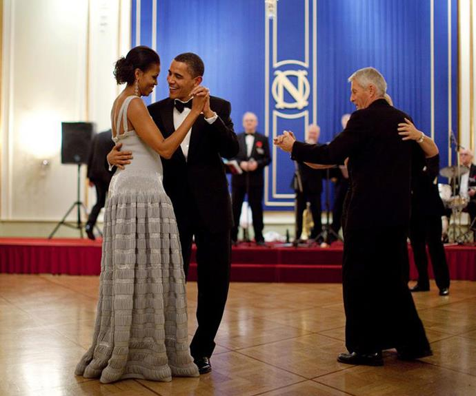 "After a rough year for romance in Hollywood, Barack Obama has restored our faith in love with this anniversary tribute to his wife Michelle. ""Dancing through 24 years. Happy Anniversary,"" the President penned."