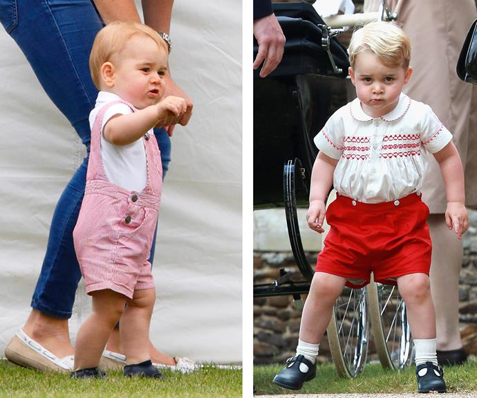 His royal cuteness seems to have a uniform going on!