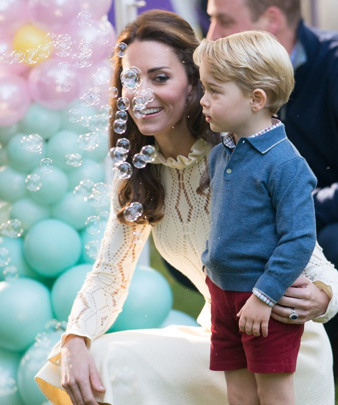 While The Duchess is no doubt considered a modern mummy in the royal family, she loves to uphold tradition in their dress.