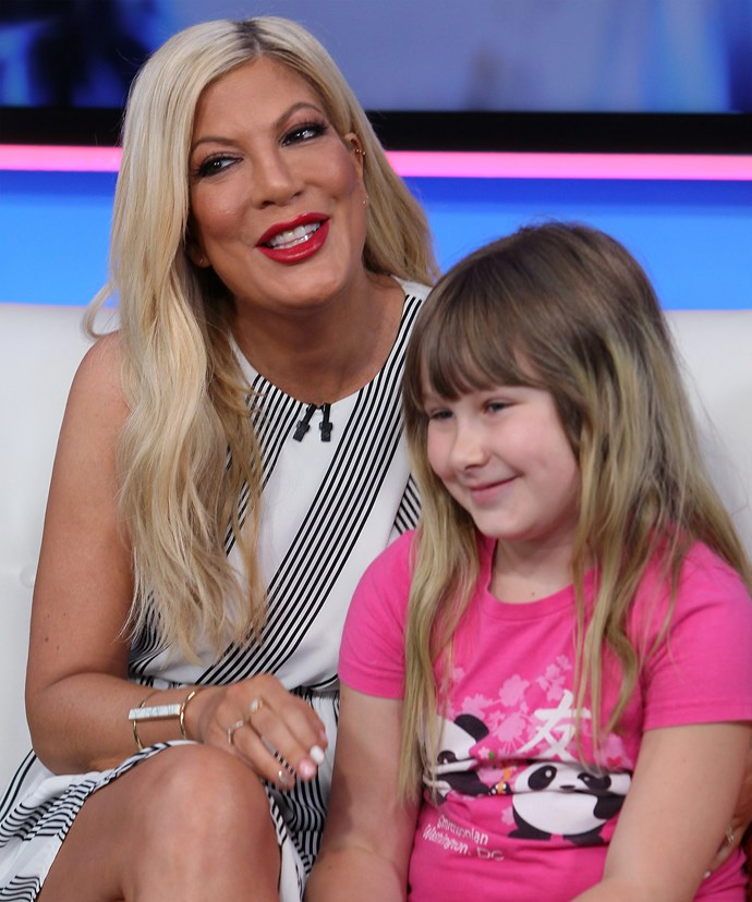 Tori, pictured with daughter Stella, always wanted a big family.
