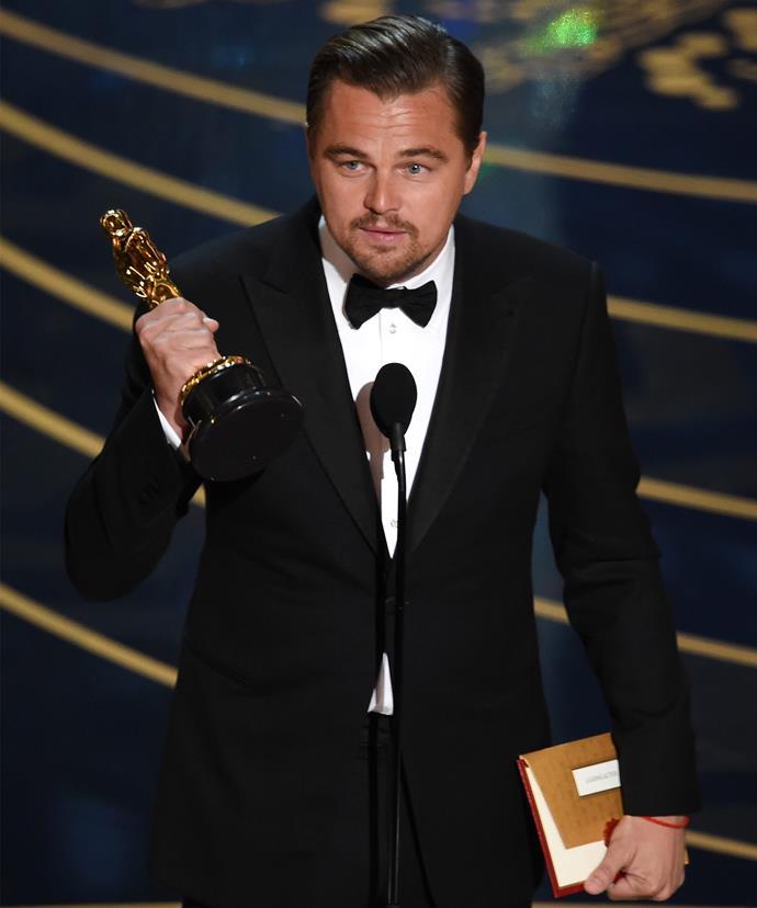Leonardo has already ticked an Oscar win off his bucket list.