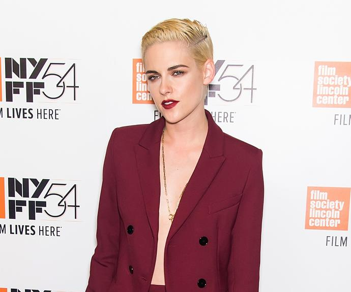 KStew just debuted a new, cropped blonde hairstyle, and we LOVE this look on her! The actress was pictured at the New York Film Festival with her platinum 'do, and we have a feeling she'll be inspiring plenty of visits to the salon...