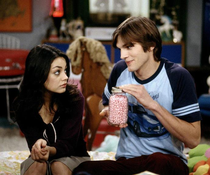 Ashton and Mila met on the set of *That 70s Show*
