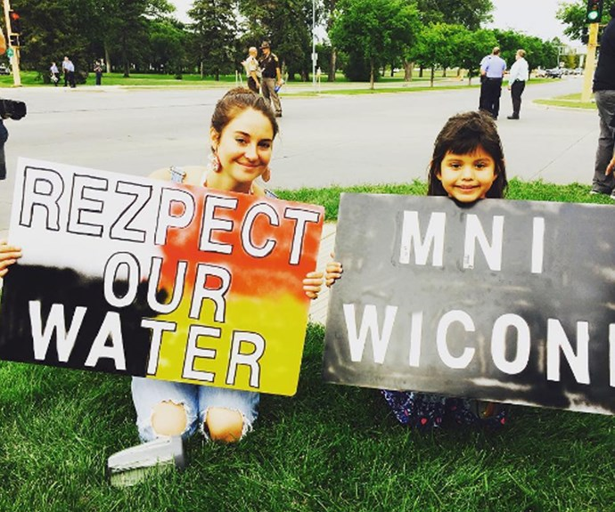 Shailene has been involved in protests for the pipeline for some time.