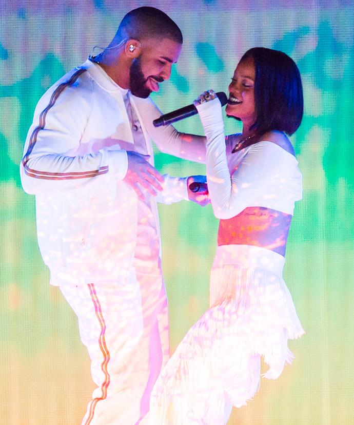 Drake and Rihanna have been on and off for seven years.