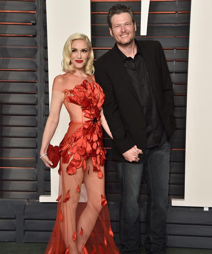 Gwen and Blake have been together for almost a year.