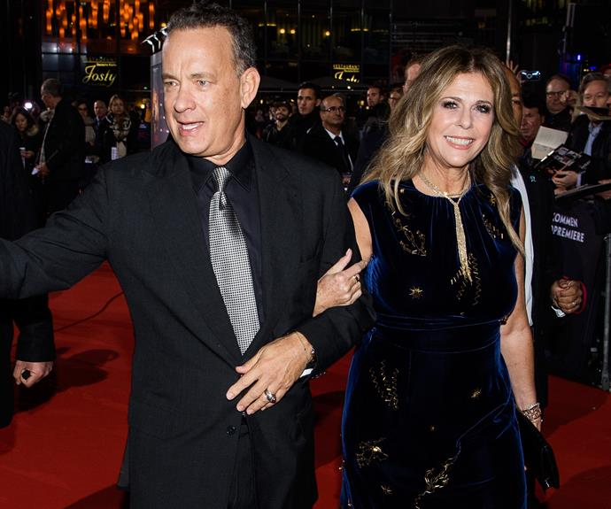 Tom Hanks and his wife of almost 30-years, Rita Wilson, were the picture of love as they stepped out for the German premiere of his latest film, *Inferno*.