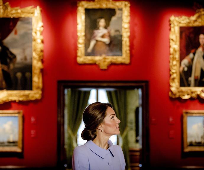 Kate took in the wonders of the museum.